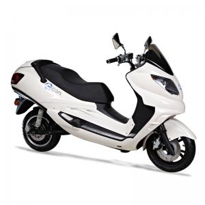 eGen eG1 Premium Electric Scooter Moped long range large lithium battery high performance LCD dash storage capacity white